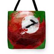 Number Seven Billiards Ball Abstract Tote Bag