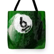 Number Six Billiards Ball Abstract Tote Bag