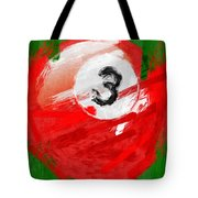 Number Three Billiards Ball Abstract Tote Bag