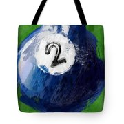 Number Two Billiards Ball Abstract Tote Bag