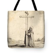 Nun Embracing The Holy Cross Tote Bag