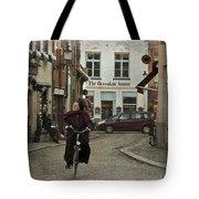 Nun On A Bicycle In Bruges Tote Bag