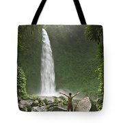 Nungnung Waterfall Tote Bag