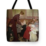 Nursery School Tote Bag by Hneri Jules Jean Geoffroy