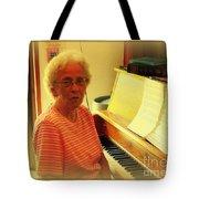 Nursing Home Piano Player Tote Bag
