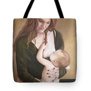Nursing With A Shield Tote Bag