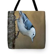 Nuthatch In Profile Tote Bag