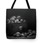 Nuts In Black And White Tote Bag