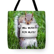 Nutty Squirrel Tote Bag