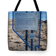 Nv-142 Old Spanish Trail Mountain Springs Pass Tote Bag