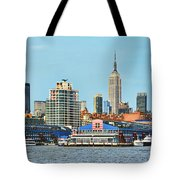Ny Skyline And Chelsea Piers Tote Bag