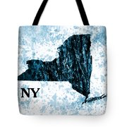 Ny State Map  Tote Bag