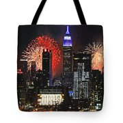 Nyc 4th Of July Fireworks Tote Bag