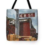 Nyc 8th Street Tote Bag by Debbie DeWitt