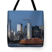 Nyc And Staten Island Ferry Tote Bag