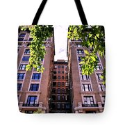 Nyc Building With Tree Overhang Tote Bag