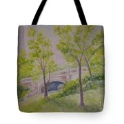 Nyc Central Park. Spring Tote Bag