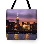 Sunset City Lights Tote Bag