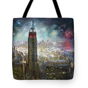 Nyc. Empire State Building Tote Bag