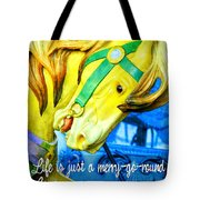 Nyc Golden Steed Quote Tote Bag