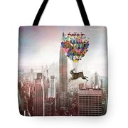 Nyc Hare Day Tote Bag