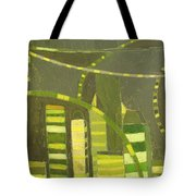 Nyc In Deep Green Tote Bag