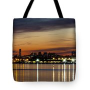Nyc On A Still Night Tote Bag