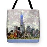 Nyc Skyline Digital Painting  Tote Bag