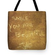 Nyc Street Art Quote Tote Bag