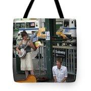 Nyc Street Musicians Banjo Tote Bag