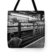 Nyc Subway At Night Tote Bag by Ranjay Mitra
