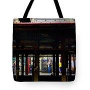 Nyc Subway Platform 283 Tote Bag