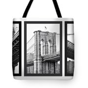 Nyc Three Bridges-east River Tote Bag