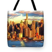 Nyc West Side Skyscrapers At Sundown Tote Bag