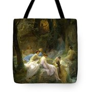 Nymphs Listening To The Songs Of Orpheus Tote Bag