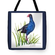 Nz Native Pukeko Bird Tote Bag