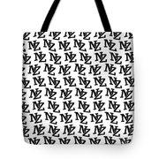 Nz New Zealand Black On White Tote Bag