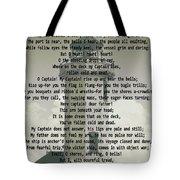 O Captain My Captain Lighthouse Tote Bag