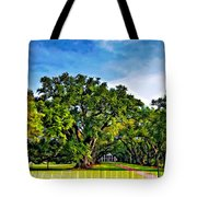 Oak Alley Plantation Tote Bag by Steve Harrington