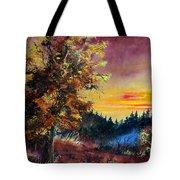 Oak At Sunset Tote Bag