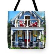 Oak Bluffs Gingerbread Cottages 4 Tote Bag