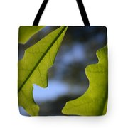 Oak Leaves Abstract Designed By Nature Tote Bag