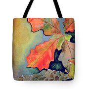 Oak Leaves And Pinecones Tote Bag