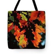 Oak Leaves In Autumn Tote Bag