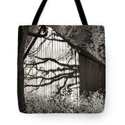 Oak Shadows On A Barn Tote Bag