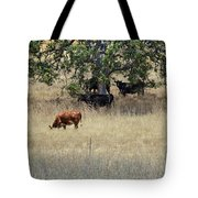 Oak Tree And The Cows Tote Bag