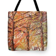 Oak Trees In The Park Tote Bag