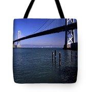 Oakland Bay Bridge 1985 Tote Bag