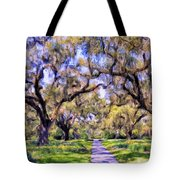 Oaks And Spanish Moss Tote Bag