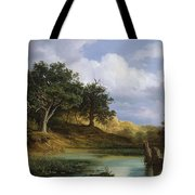 Oaks Beside The Water 1832 By Christian E. B. Morgenstern Tote Bag